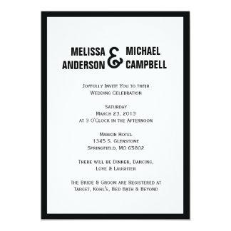 Convite preto & branco formal do casamento