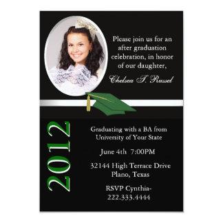 Convite preto, branco, & verde da festa de