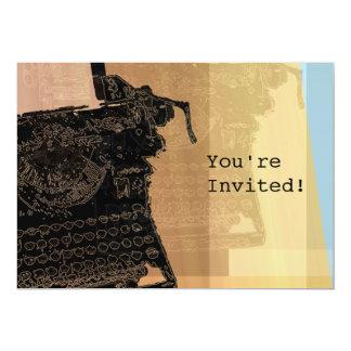 Convite preto da máquina de escrever 2
