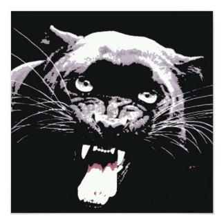 Convite preto da pantera de Jaguar