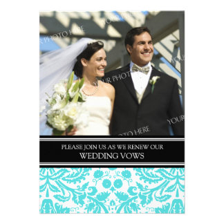 Convite preto da renovação do voto de casamento da