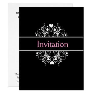 convite preto do casamento