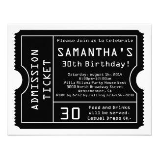 Convite preto e branco do bilhete estilo de Digit