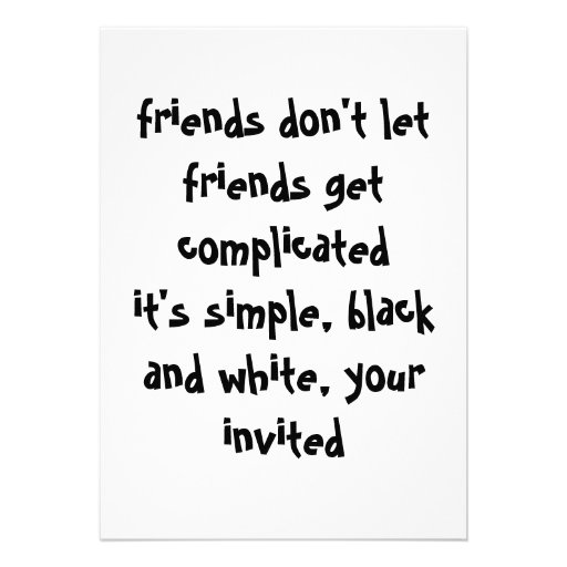 Convite preto e branco simples