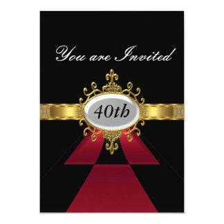 Convite preto vermelho do encanto da festa de