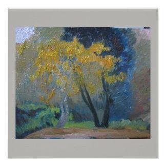 Convite Quadrado 13.33 X 13.33cm cartão da arte da árvore do kowhai