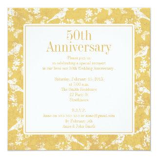 Convite quadrado do aniversário de casamento do