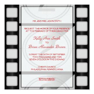 Convite quadrado do cinema