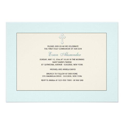 Convite religioso azul