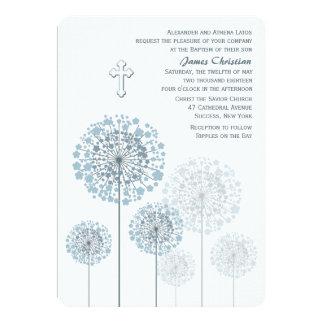Convite religioso azul das plântulas do