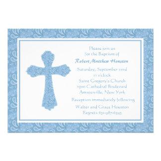 Convite religioso azul de Paisley