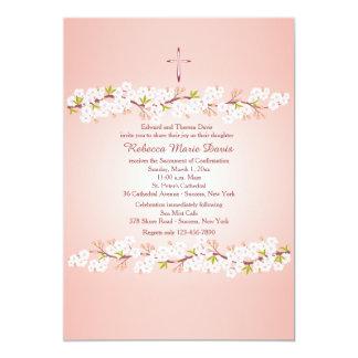 Convite religioso da flor de cerejeira