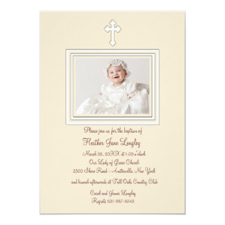 Convite religioso da foto da jovem corça