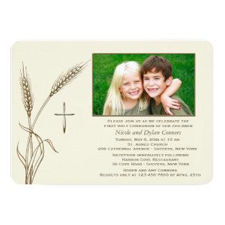 Convite religioso da foto do trigo um