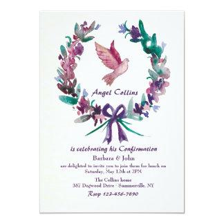 Convite religioso da pomba da aguarela