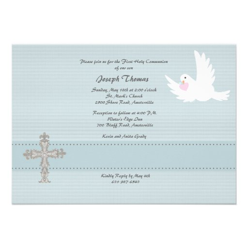Convite religioso da pomba fiel
