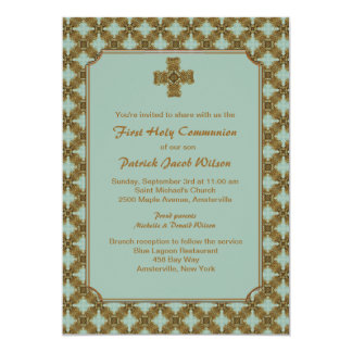 Convite religioso da proeminência convite 12.7 x 17.78cm