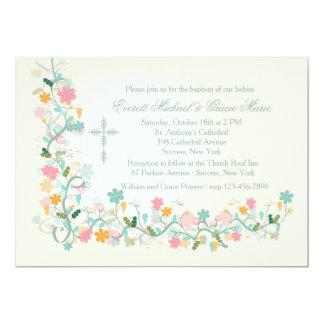 Convite religioso de canto do Floret