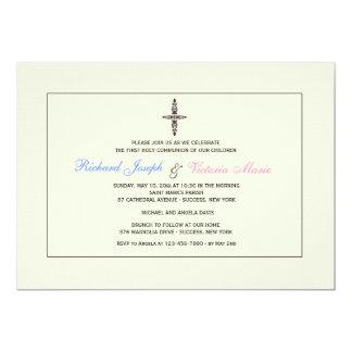 Convite religioso de creme