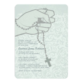 Convite religioso disponivel do rosário convite 12.7 x 17.78cm