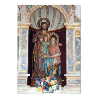 Convite religioso do baptismo do ícone