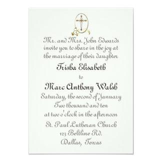 Convite religioso do casamento