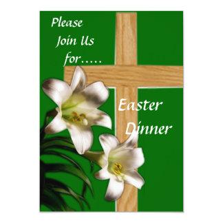 Convite religioso do comensal da páscoa