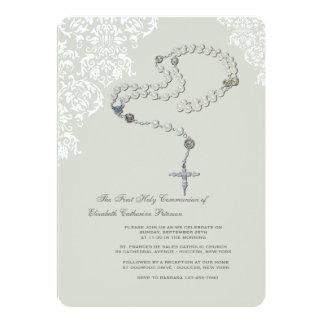 Convite religioso do rosário santamente convite 12.7 x 17.78cm