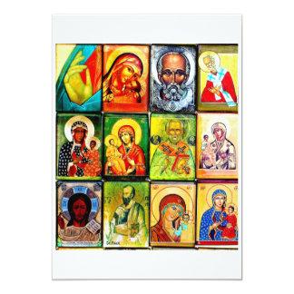 Convite religioso do tema cristão convite 12.7 x 17.78cm