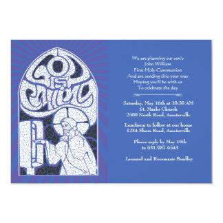 Convite religioso do vitral de Jesus