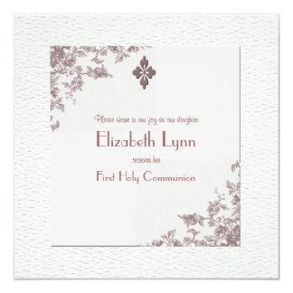 Convite religioso dos cantos cor-de-rosa da