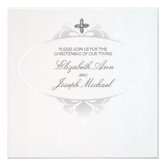 Convite religioso fiel convite quadrado 13.35 x 13.35cm