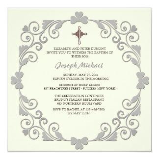 Convite religioso quadrado brilhante convite quadrado 13.35 x 13.35cm