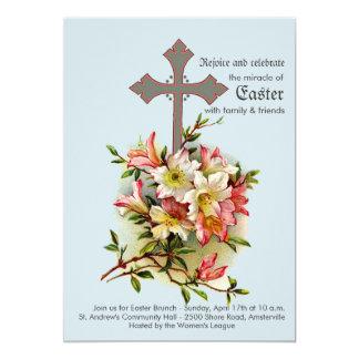 Convite religioso transversal íntegro convite 12.7 x 17.78cm