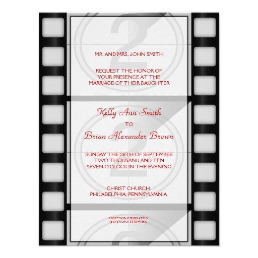Convite retangular pequeno do cinema