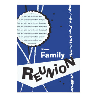 Convite retro customizável da reunião de família