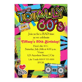 convite retro da festa de aniversário dos anos 80