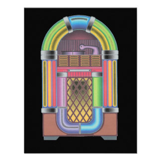 Convite retro da reunião da música do jukebox do s