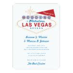 Convite retro do casamento do casino do sinal de