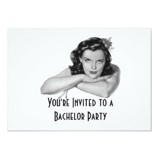 Convite retro do despedida de solteiro