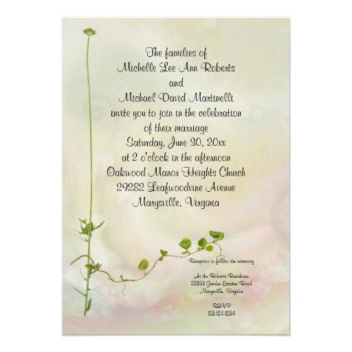 casamento jardim simples : casamento jardim simples:Convite romance do casamento do jardim convite 12.7 x 17.78cm