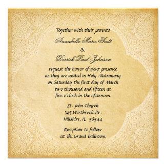 Convite romano antigo do casamento