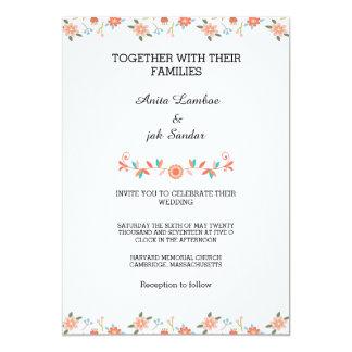 Convite romântico da festa de casamento