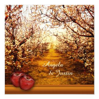 Convite romântico do casamento do pomar de Apple