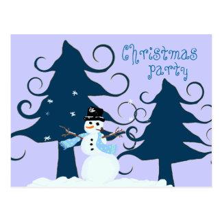Convite roxo da festa de Natal das árvores