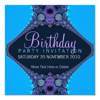 Convite roxo do aniversário do partido do recife