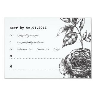 Convite RSVP do casamento do jardim de rosas