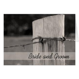 Convite rural do casamento do rancho do país do