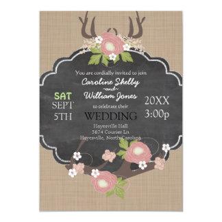 Convite rústico bonito do casamento da flor do