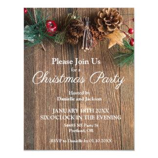 Convite rústico da festa de Natal do país